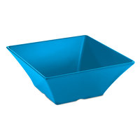 Tablecraft MB166BL Frostone Square Blue Melamine Bowl - 15 3/4 inch x 6 inch