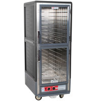 Metro C539-HDC-L-GY C5 3 Series Heated Holding Cabinet with Clear Dutch Doors - Gray