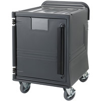 Cambro CMBPL Charcoal Gray Non-Electric Combo Cart Plus with Standard Casters and Security Package Low Profile