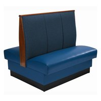 American Tables & Seating AD-423 Double 3 Channel Back Upholstered Booth - 42 inch High