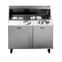 Traulsen UPT7218-LL-SB 72 inch Sandwich / Salad Prep Table with Left / Left Hinged Doors and Stainless Steel Back