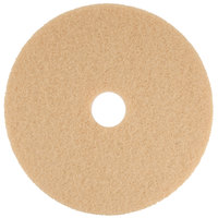 Scrubble by ACS 34-20 20 inch Tan Buffing Floor Pad - Type 34 - 5/Case