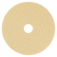 Scrubble by ACS 42-20 Type 42 20 inch Beige Burnishing Floor Pad - 5/Case
