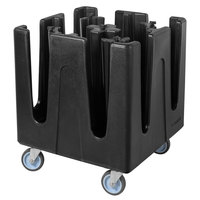 Carlisle ADS803 Black Optimizer Small Dish Dolly with 8 Adjustable Dividers