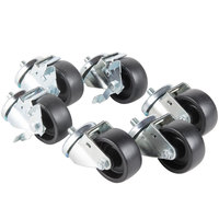 Traulsen CK23 4 inch Swivel Casters for 60 inch and 72 inch U-Series Refrigerators and Freezers  - 6/Set