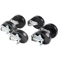 Traulsen CK21 6 inch Swivel Casters for 60 inch and 72 inch U-Series Refrigerators and Freezers  - 6/Set
