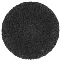 Scrubble by ACS 75-17 17 inch Black Super Stripping Floor Pad - Type 75 - 5/Case