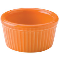 Hall China 38345325 Tangerine 4 oz. Colorations Fluted Ramekin - 36 / Case