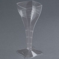 Fineline Wavetrends 1208 Clear Plastic 8 oz. Wine Glass - 72/Case