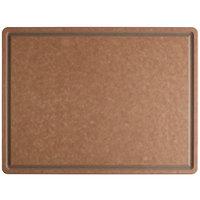 San Jamar TC182412GV Tuff-Cut® 24 inch x 18 inch x 1/2 inch Grooved Cutting Board