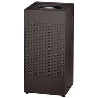Rubbermaid FGSC14EPLTBK Silhouettes Black Steel Designer Waste Receptacle - 24 Gallon