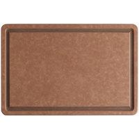 San Jamar TC121812GV Tuff-Cut® 18 inch x 12 inch x 1/2 inch Grooved Cutting Board