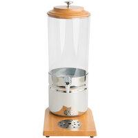 2 Gallon Wood Trim Juice Dispenser with Freezer Block
