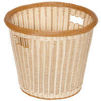 GET WB-1523-TT Designer Polyweave 17 inch x 14 1/2 inch Two-Tone Round Plastic Basket - 6/Pack