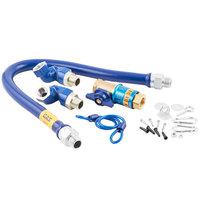 Dormont 1675KITCF2S36 Deluxe Safety Quik® 36 inch Gas Connector Kit with Two Swivels and Restraining Cable - 3/4 inch Diameter