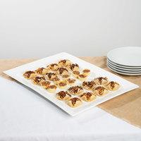 10 Strawberry Street WTR-22-15REC Whittier 21 3/4 inch x 14 3/4 inch White Porcelain Rectangular Platter - 4/Case