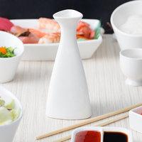 10 Strawberry Street WTR-SAKEBTL Whittier 5 oz. White Porcelain Sake Bottle - 12/Case