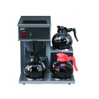 Curtis CAFE3DB10A000 12 Cup Pourover Coffee Brewer with 1 Upper and 2 Lower Warmers - 120V