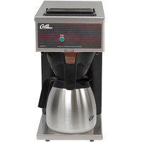 Curtis CAFEOPP10A000 12 Cup Pourover Thermal Carafe Coffee Brewer with 1 Lower Warmer - 120V