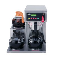 Curtis ALP3GTL12A000 12 Cup Coffee Brewer with 3 Lower Warmers on Left - 120V