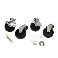 True 830277 4 inch Swivel Stem Casters - 4/Set