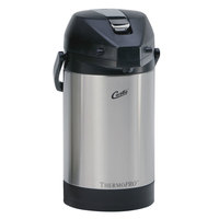 Curtis TLXA2501S000 2.5 Liter Stainless Steel Low Profile Lever Airpot with Liner - 6/Case