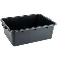 Choice 20 inch x 15 inch x 7 inch Black Polyethylene Bus Tub, Bus Box