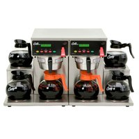 Curtis ALP6GT63A000 12 Cup Twin Coffee Brewer with 6 Lower Warmers - 120/220V