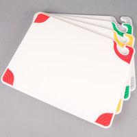 San Jamar CBGW152012QS 15 inch x 20 inch x 1/2 inch Saf-T-Grip 4-Board White Cutting Board System