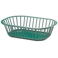 Tablecraft 1088FG Forest Green 10 inch x 7 inch x 3 inch Spoke Plastic Fast Food Basket 12 / Pack