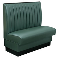 American Tables & Seating AS-4212 46 inch Single 12 Channel Back Upholstered Booth