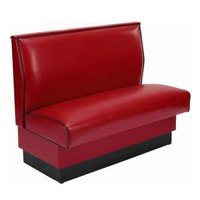American Tables & Seating AS-48-D Plain Single Deuce Fully Upholstered Booth - 48 inch High