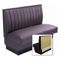 American Tables & Seating AS-4212-Wall 12 Channel Back Upholstered Wall Bench - 42 inch High