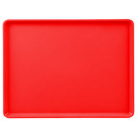 Cambro 1216D521 12 inch x 16 inch Red Dietary Tray - 12/Case
