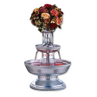 Apex 3003-S Prince 5 Gallon Silver Aluminum Beverage Fountain with Silver Rope Trim and Waterfall Set