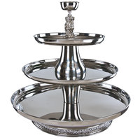 Apex VIP30-2418-S VIP III Series Three Tier Food Tray with Silver Column - 30 inch High