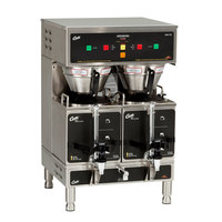Curtis GEM-12D-16 Gemini Stainless Steel Twin Digital Satellite Coffee Brewer with Servers - 220V, 3 Phase