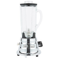 Waring BB900G 1/2 hp 2 Speed Chrome Commercial Bar Blender with 40 oz. Glass Container - 120V