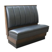 American Tables & Seating AS-426-D Single Deuce 6 Channel Back Upholstered Booth - 42 inch High