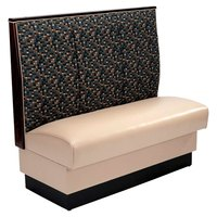 American Tables & Seating AS-483-D 30 inch Single Deuce 2 Channel Back Upholstered Booth