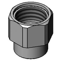 T&S 000732-25 Faucet Outlet Nut with 1/4 inch NPT and 3/4-14 UN Female Inlets