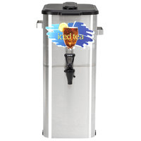 Curtis TCO421A000 4 Gallon 21 inch Stainless Steel Oval Iced Tea Dispenser with Plastic Lid