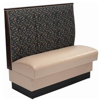 American Tables & Seating AS-483 46 inch Single 3 Channel Back Upholstered Booth