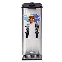 Curtis TCC2 3 Gallon Dual Faucet Tea Concentrate Dispenser with Plastic Lid