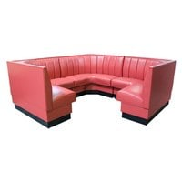 American Tables & Seating AS-426-1/2 6 Channel Back Upholstered Corner Booth 1/2 Circle - 42 inch High
