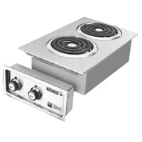 Wells H-636 Drop-In 14 3/4 inch Electric Countertop Two Burner Hot Plate - 5200W