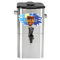 Curtis TCO417A000 4 Gallon 17 inch Stainless Steel Oval Iced Tea Dispenser with Plastic Lid