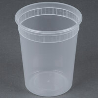 32 oz. Microwavable Translucent Plastic Deli Container - 480 / Case