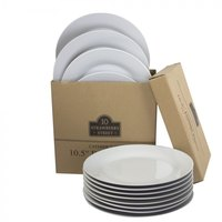 10 Strawberry Street CATERING-12(DINNER) Catering Packs Set of 12 Round 10 1/2 inch Dinner Plates / Case