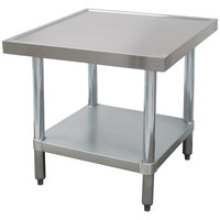 Advance Tabco MT-GL-302 30 inch x 24 inch Stainless Steel Mixer Table with Galvanized Undershelf